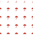 umbrella icon pattern seamless white background vector image vector image