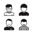Users icons vector image vector image