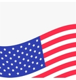Waving American flag frame White background vector image vector image