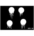 white dripping paint melting drip background vector image vector image