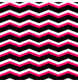 zig zag chevron black pink and white tile pattern vector image vector image