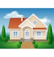 Country cottage and garden vector image