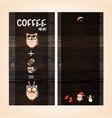 restaurant menu design on wooden background vector image