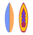 color surfboard extreme sport vector image