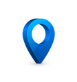 3d map pointer blue navigator symbol isolated vector image vector image