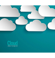 Abstract paper clouds background vector image vector image