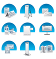 advertisement icons back vector image