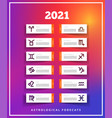 astrological forecast 2021 paper vector image