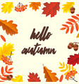 autumn poster vector image vector image
