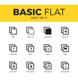 Basic set of copy icons vector image vector image