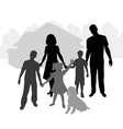 big family vector image