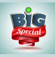 big special banner vector image vector image