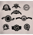 Black badges and ribbons vector image vector image