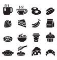 breakfast icon set 2 vector image