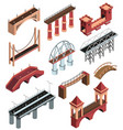 bridges isometric set vector image