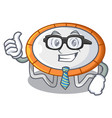 businessman trampoline character room on place vector image