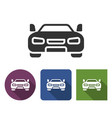 car icon in different variants with long shadow vector image vector image