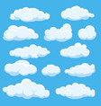 cartoon clouds on blue sky vector image vector image