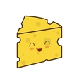 cheese breakfast food menu icon vector image vector image