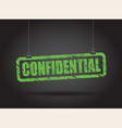 confidential green vector image vector image