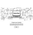 Create your Garden Website Template vector image