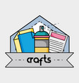 creative object to art and craft design vector image vector image