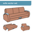 curves of sofa1 vector image