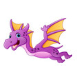 cute dragon flying vector image vector image