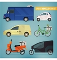 Delivery vehicles vector image vector image