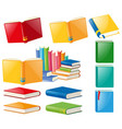 different designs of books vector image vector image