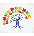 Education tree book concept vector image