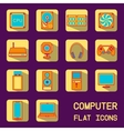 flat computer icons vector image vector image