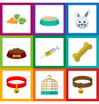 flat icon animal set of dog food root vegetable vector image vector image