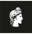 greek god apollo logo ancient god sculpture vector image vector image