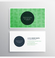 green professional elegant business card design vector image vector image