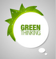 Green thinking bubble vector | Price: 1 Credit (USD $1)