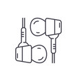 hybrid headphones line icon concept hybrid vector image vector image