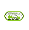 icon for green company award badge vector image vector image