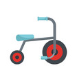 kid tricycle icon flat style vector image