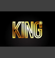 king word text typography gold golden design logo vector image vector image
