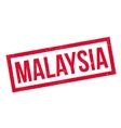Malaysia rubber stamp vector image vector image