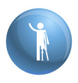 man prosthesis hand icon simple style vector image