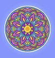 mandala colorful love leaf vector image