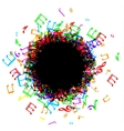 music notes border frame vector image vector image