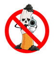 no smoking stop cigarette prohibition sign vector image vector image