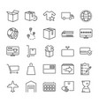 order fulfillment icon set vector image