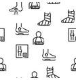 orthopedic seamless pattern vector image vector image