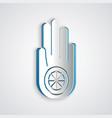 paper cut symbol jainism or jain dharma icon vector image vector image