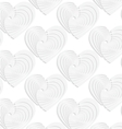 Paper white textured hearts vector image vector image