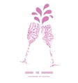 pink flowers lineart toasting wine glasses vector image vector image